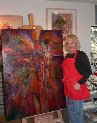 Jan Sitts - Experimental Artist specializing in layering techniques and art workshops from Sedona, Arizona